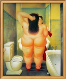 The Bath Posters by Fernando Botero