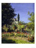 Garden in Bloom, c.1866 Giclée-Druck von Claude Monet