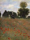 Poppy Field at Argenteuil, c.1873 Giclee Print by Claude Monet