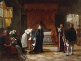 Mary Stuart's Death Sentence, c.1808 Giclée-Druck von Jean-baptiste Vermay