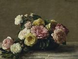 Roses in a Bowl, c.1882 Giclée-tryk af Henri Fantin-Latour