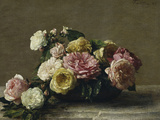 Roses in a Bowl, c.1882 Giclee Print by Henri Fantin-Latour