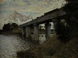 Railway Bridge at Argenteuil, c.1873 Giclee Print by Claude Monet