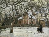 Chestnut Trees in Louveciennes, c.1872 Reproduction procédé giclée par Camille Pissarro