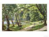Walk in the Park, Copenhagen Giclee Print by Carsten Henrichsen