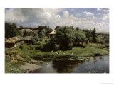Farmstead in Russia Giclee Print by Alexander Kisseleff