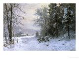 Late Lies the Winter Sun Reproduction procédé giclée par Anders Andersen-Lundby