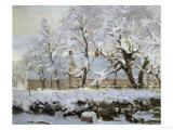 The Magpie, c.1869 Giclée-Druck von Claude Monet