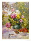 Still Life of Summer Flowers and Fruit Giclée-Druck von Marie Felix Lucas