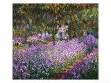 The Artist's Garden At Giverny, c.1900 Giclee-trykk av Claude Monet