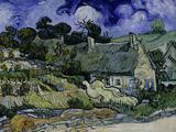 Straw-Decked Houses in Auvers-Sur-Oise, c.1890 Giclee-trykk av Vincent van Gogh