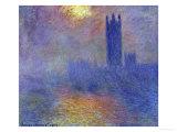 London Parliament in the Fog, c.1904 Giclée-Druck von Claude Monet