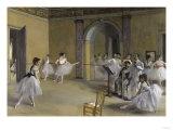 Ballet Room at the Opera in Rue le Peletier, c.1872 Giclée-tryk af Edgar Degas