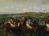 Gentlemen Race, Before the Start, c.1862 Giclee Print by Edgar Degas