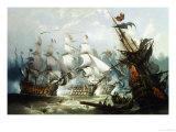The Battle of Trafalgar, c.1875 Stampa giclée di John Callow
