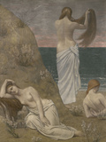 Young Women at the Ocean, c.1879 Giclee Print by Pierre Puvis de Chavannes