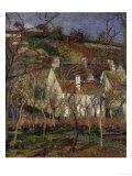 The Red Roofs, c.1877 Reproduction procédé giclée par Camille Pissarro