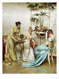 Tea Time Tales Giclee Print by Joseph Frederic Soulacroix