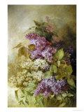 Study of Lilac Giclée-tryk af Claude Massman