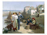 Naval Manoeuvres Giclee Print by Edwin Roberts