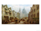La Belle Sauvage Inn, Ludgate Hill, London Giclee Print by John Charles Maggs