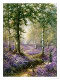 Blåklockeskogen Gicléetryck av Alfred Fontville de Breanski