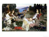 Saint Cecilia Giclée-tryk af John William Waterhouse