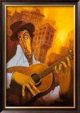 El Guitarrista Pôsteres por Justin Bua