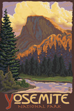 Half Dome, Yosemite National Park, California Poster von  Lantern Press