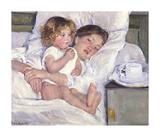 Breakfast In Bed Premium-giclée-vedos tekijänä Mary Cassatt