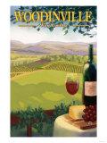 Woodinville, Washington Wine Country Láminas por  Lantern Press