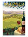 Walla Walla, Washington Wine Country Arte por  Lantern Press