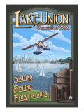 Lake Union Float Plane, Seattle, Washington Posters tekijänä  Lantern Press