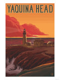 Oregon Coast Yaquina Head Lighthouse Poster by  Lantern Press