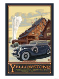 Old Faithful Inn, Yellowstone National Park, Wyoming Poster by  Lantern Press
