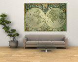 Carte du monde Poster géant par Joan Blaeu