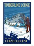 Timberline Lodge, Mt. Hood, Oregon Poster by  Lantern Press