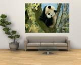 Juvenile Giant Panda Wall Mural by Lu Zhi