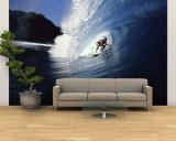 Surfer Riding a Wave Wall Mural – Large