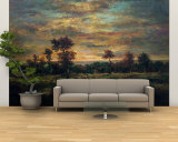Pond at the Edge of a Wood Wall Mural – Large by Théodore Rousseau