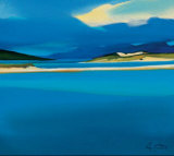 Luskentyre Blues Collectable Print by Pam Carter