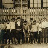 Night Work! Group of Boys Working in Massey Hosiery Mills, Columbus, Georgia, c.1913 Photo by Lewis Wickes Hine