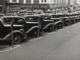 Black Cars and Meters, Omaha, Nebraska, c.1938 Foto af John Vachon