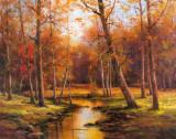 Meadow Stream Kunstdruck von T. C. Chiu
