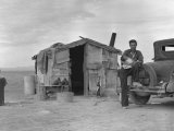 Migratory Mexican Field Worker's Home, Imperial Valley, California, c.1937 Foto af Dorothea Lange