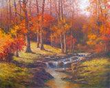 Bubbling Brook Kunstdrucke von T. C. Chiu