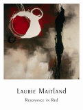 Resonance in Red Print by Laurie Maitland