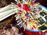 Canang Sari, Traditional Balinese Daily Offering, Ubud, Bali, Indonesia Photographic Print by Jay Sturdevant