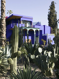 Villa Exterior, Jardin Majorelle and Museum of Islamic Art, Marrakech, Morocco Photographic Print by Walter Bibikow