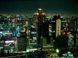 Aerial View of Downtown Skyline, Osaka, Japan Photographic Print by Nancy & Steve Ross